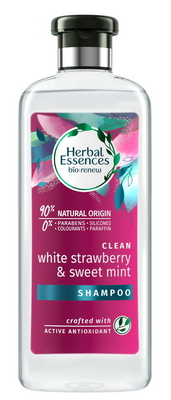 Herbal Essences šampon Clean white strawberry sweet mint 400ml